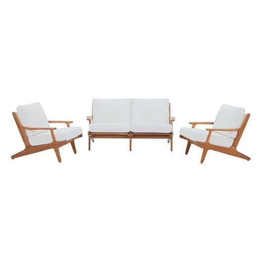 Gold Coast 3 Piece Teak Wood  Conversation Set