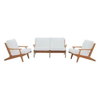 Gold Coast 3 Piece Teak Wood  Conversation Set
