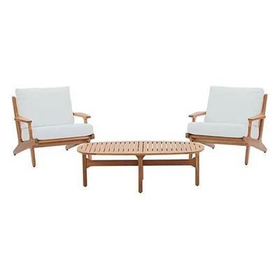 Gold Coast 3 Piece Teak Wood  Chat Set