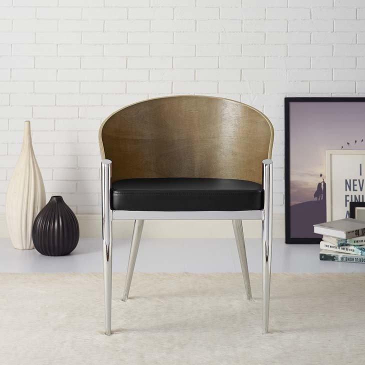 Aldren Dining Chair | Chrome