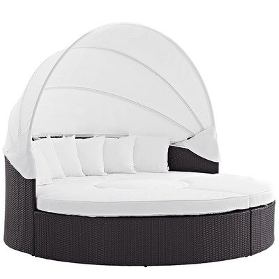 Hinsdale Patio Circular Canopy Sectional Daybed