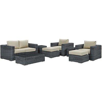 North Avenue Patio 8 Piece Conversation Set   with Sunbrella® Cushion