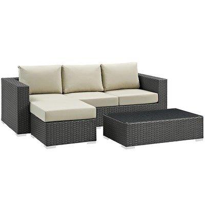 Soho Patio 3 Piece Sectional Set with Sunbrella® Cushion