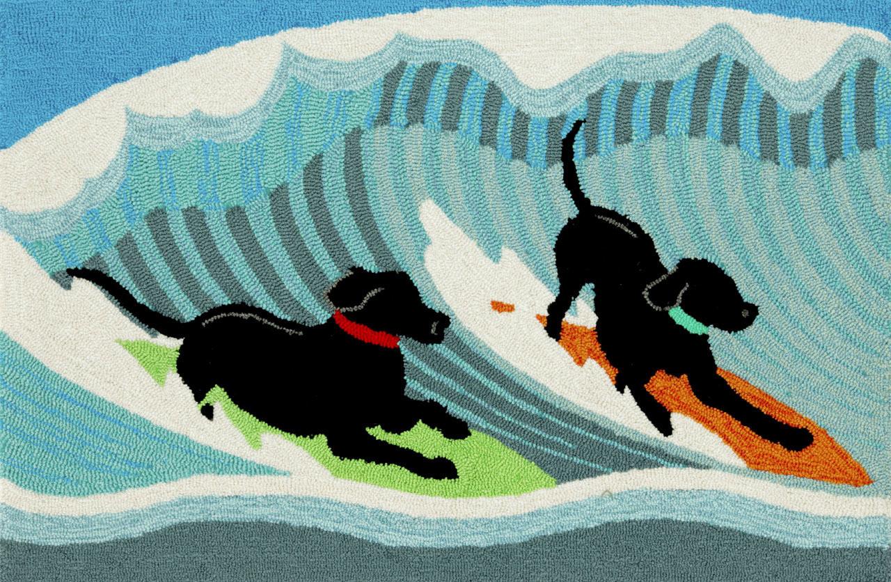 Surfing Dogs Ocean