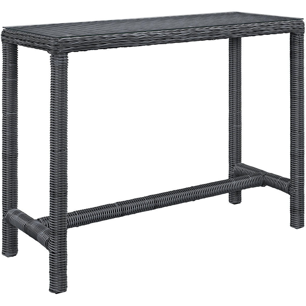 North Avenue Patio Bar Table with Glass Top (Large)