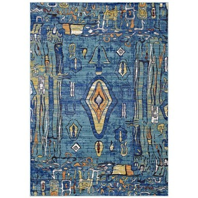 Aztec Distressed Area Rug | 3 Sizes