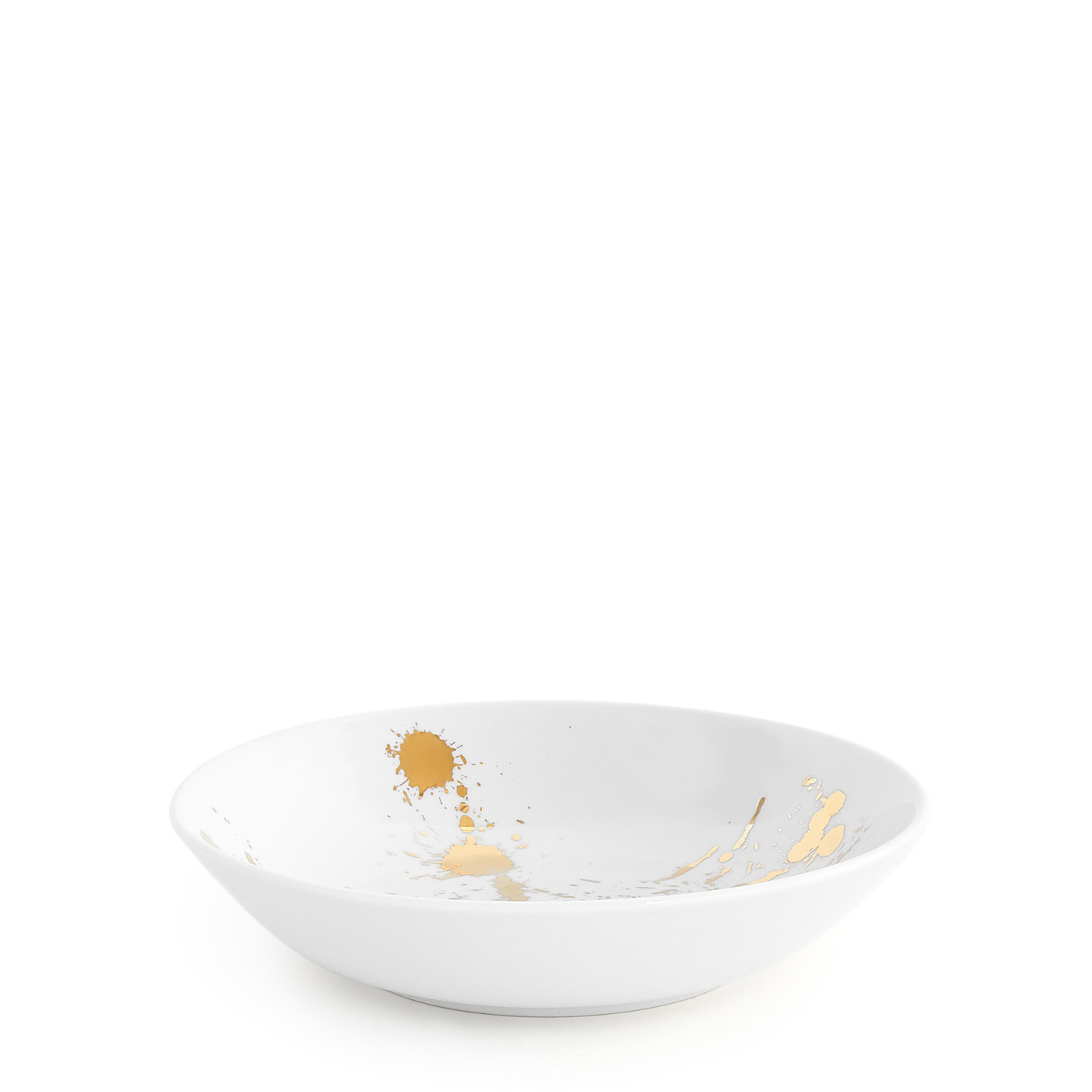 Jonathan Adler 1948 White and Gold Soup Bowl / Set of 4