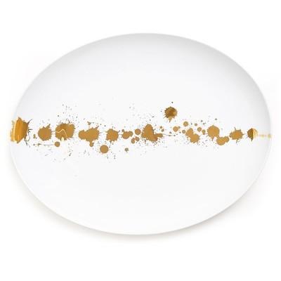 Jonathan Adler 1948 White and Gold Serving Platter