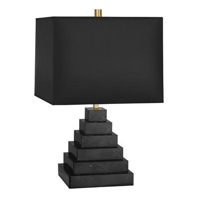 Canaan Pyramid Black Marble/Black Shade Table Lamp