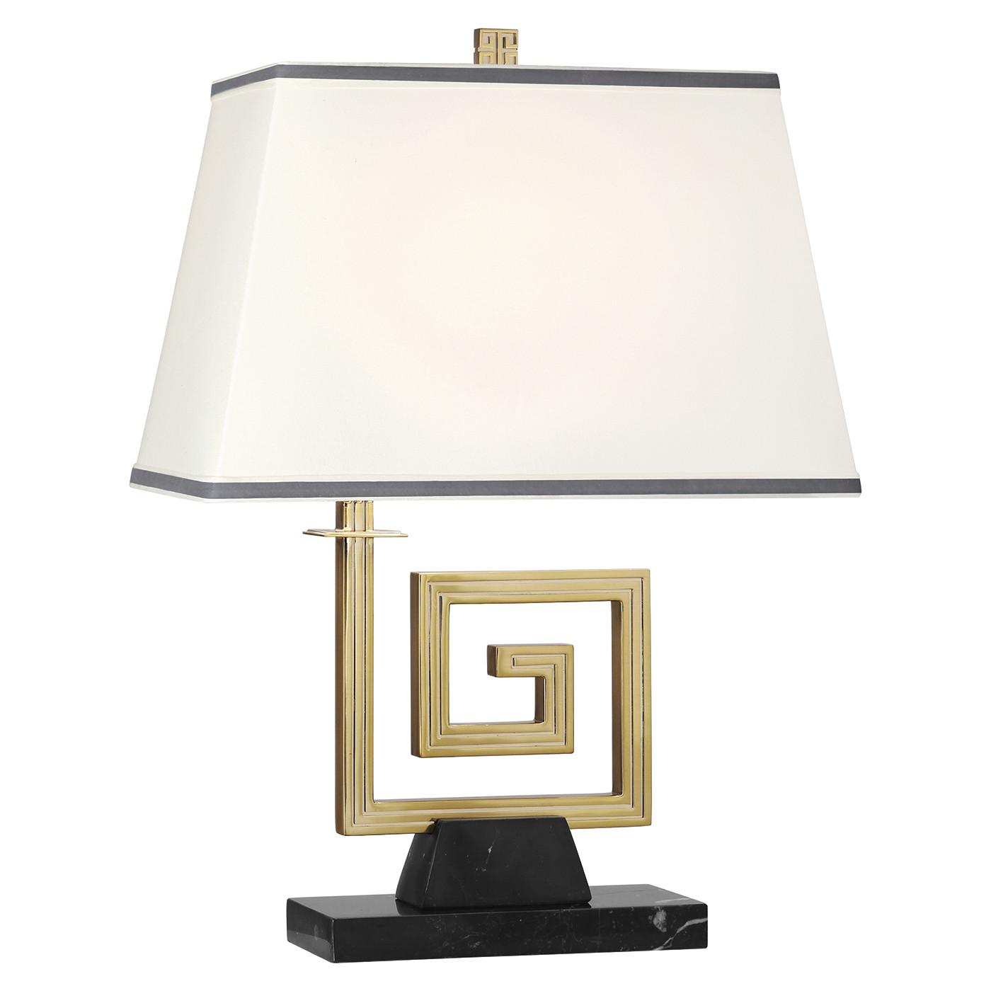 Mykonos Brass  or Nickel Table Lamp