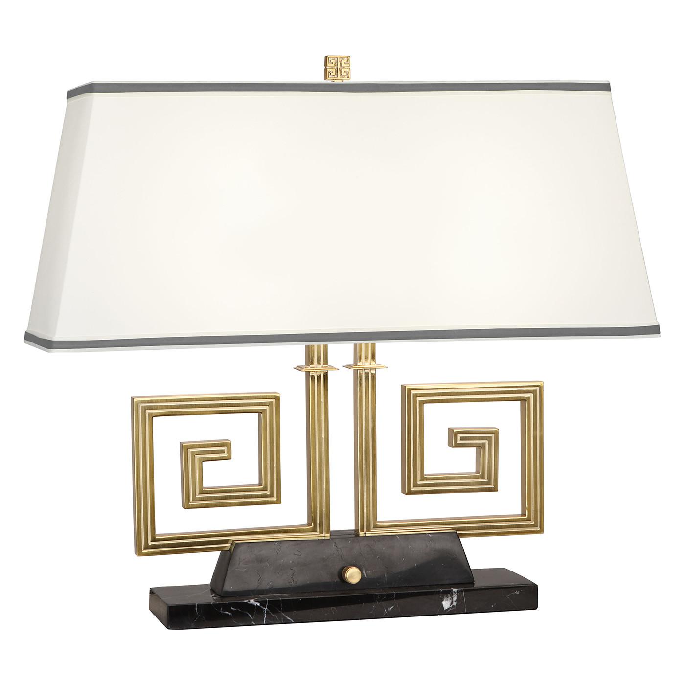 Mykonos Double Brass  or Nickel Table Lamp