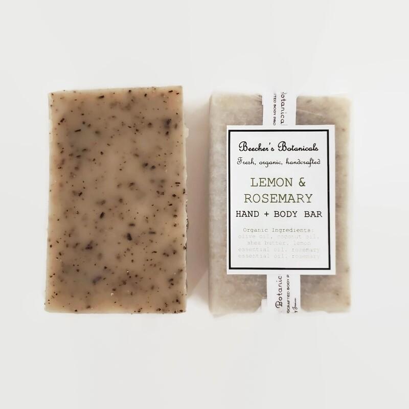 LEMON ROSEMARY Soap, Freshening Hand + Body Bar