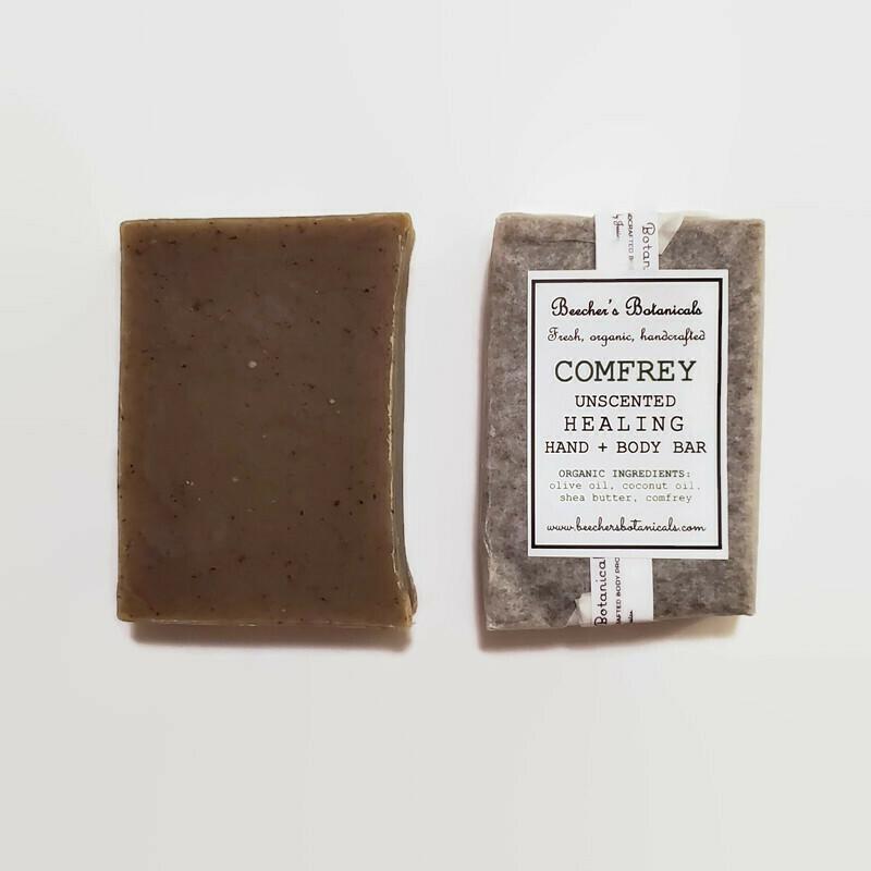 COMFREY Soap, Unscented Healing Face + Body Bar