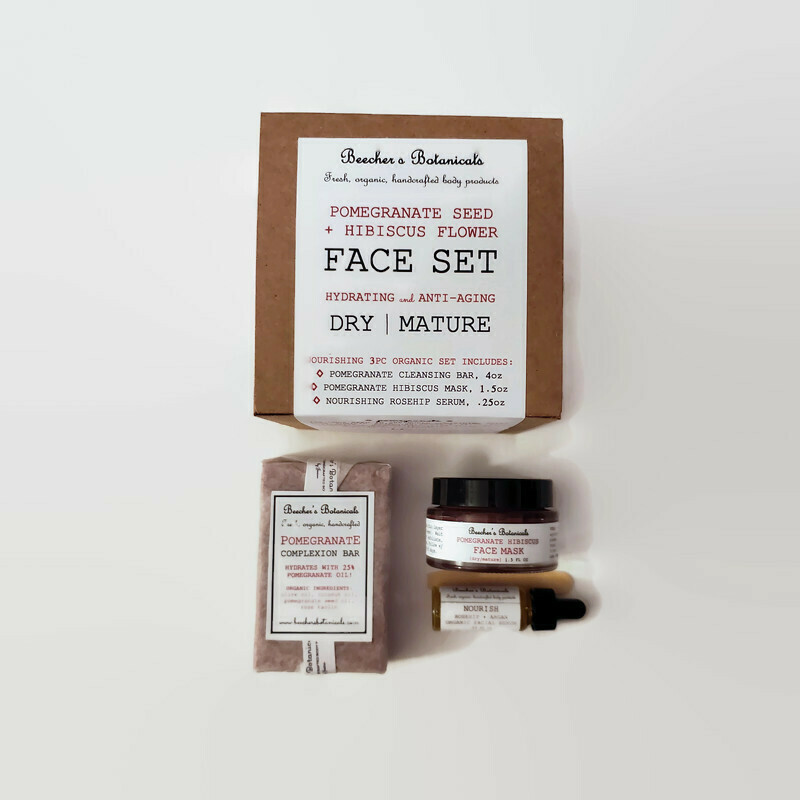 POMEGRANATE + HIBISCUS 3-pc Face Set [dry, mature, aging]
