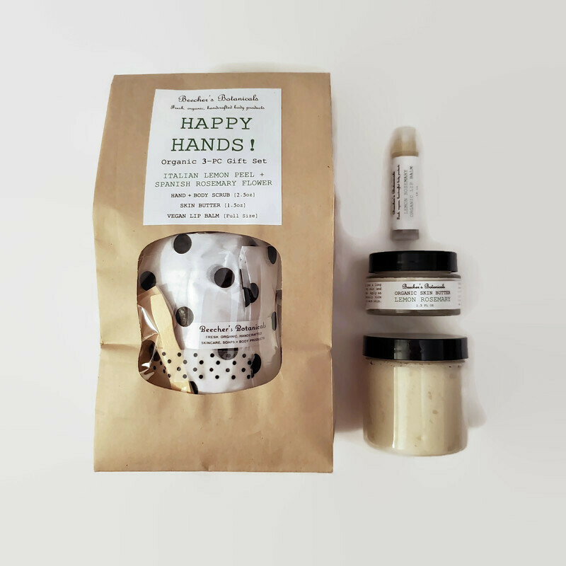 HAPPY HANDS! Organic 3-pc Spa Gift Set