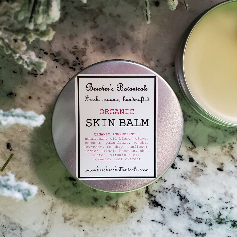 Organic Skin Balm for Cracked Hands + Feet