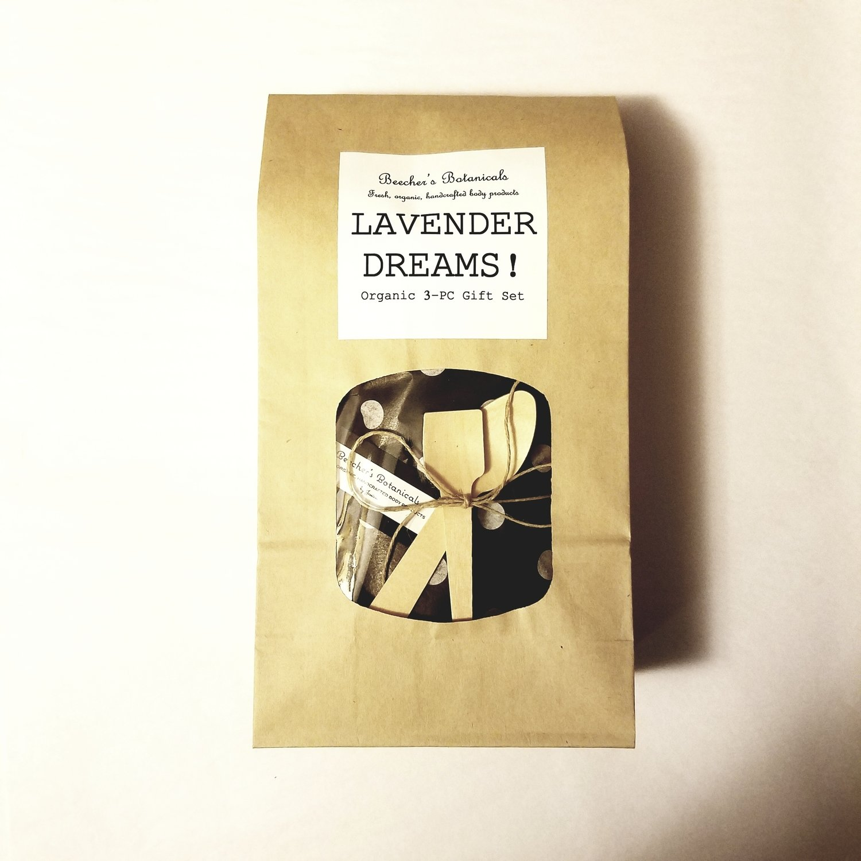 LAVENDER Organic 3-pc Spa Gift Set