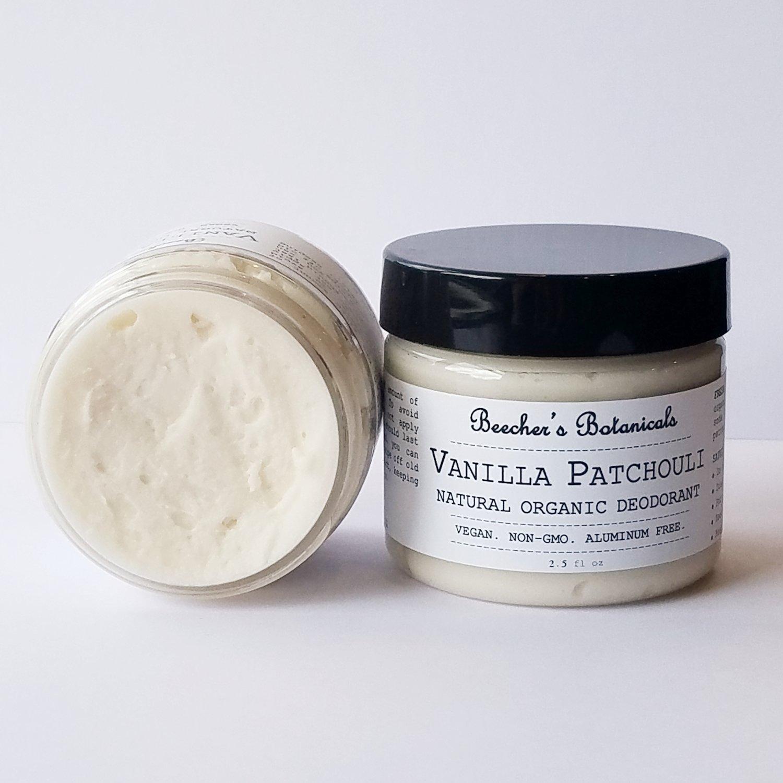 VANILLA PATCHOULI Natural Deodorant Cream
