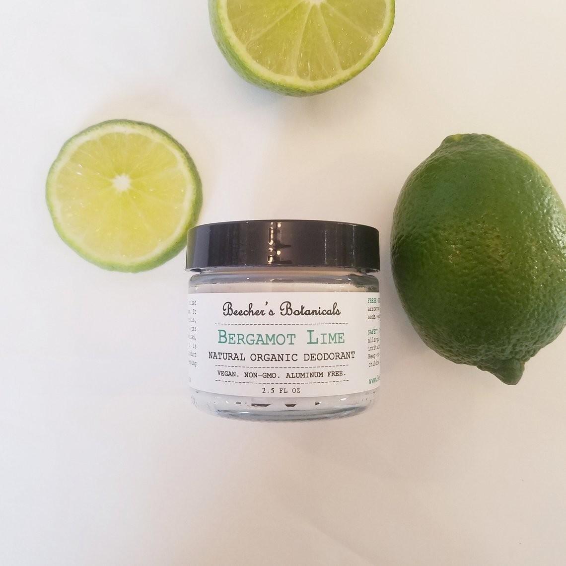 BERGAMOT LIME Natural Deodorant Cream