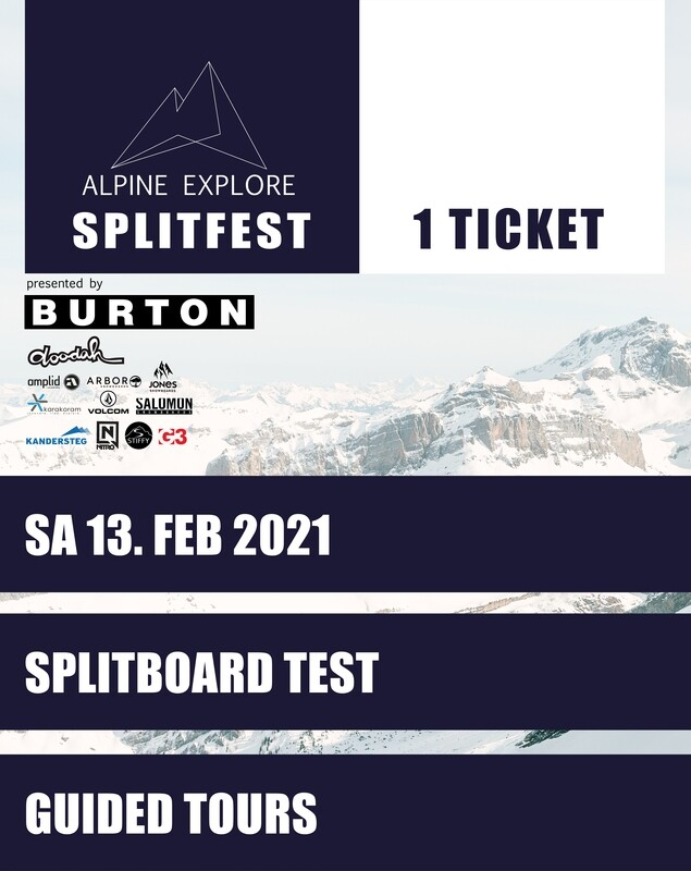 SPLITFEST TICKET SAMSTAG 13. FEBRUAR 2021