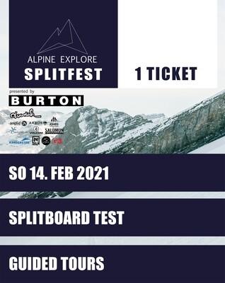 SPLITFEST TICKET SONNTAG 14. FEBRUAR 2021