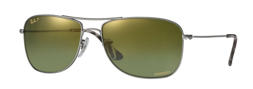 Ray Ban 3543 Gunmetal Green Mirror Chromance Polarized