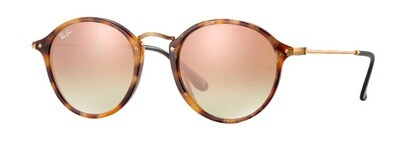 Ray Ban Round Fleck Tortoise Black Copper Gradient Flash