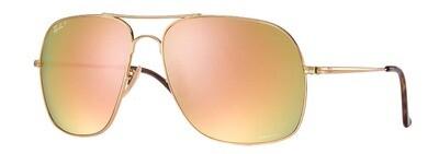 Ray Ban 3587 Chromance Gold Pink Mirror