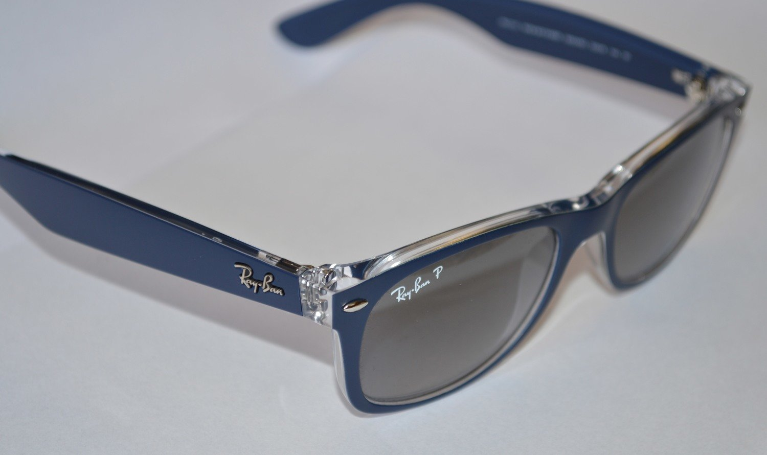 Ray Ban New Wayfarer Color Mix Blue Gradient Grey Polarized