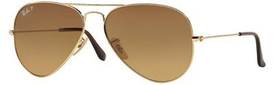Ray Ban Aviator Gold Brown Gradient  RB3025 001/M2 58-14