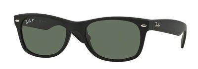 Ray Ban New Wayfarer Classic Black Matte Green POLARIZED