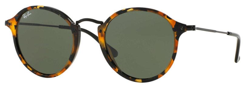 Ray Ban Round Fleck Tortoise Black Green G-15
