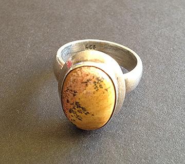 Merlinite Silver Ring