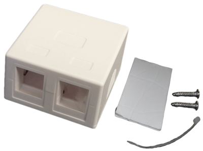 2 Port Surface Mount Box for Keystone Jacks -Easy Mount as low as $.65 each
