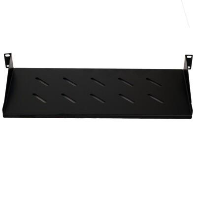 "1RU x 8"" Deep Vented Rackmount Shelf Includes Mounting Screws"