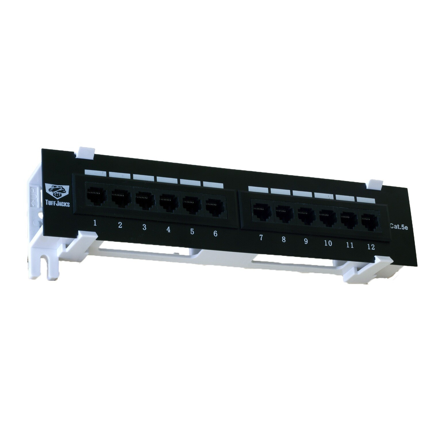 """12 Port Cat-5e Patch Panel 10"""" with Standoff as Low as $10.50 ea."""