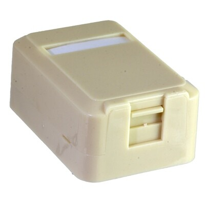 1 Port Surface Mount Box with Dust Door as Low as $.59 ea.