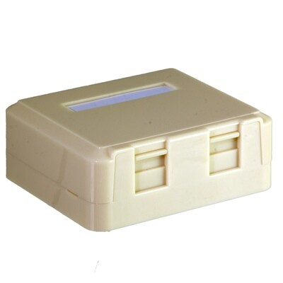 2 Port Surface Mount Box with Dust Door as Low as $.69 ea.