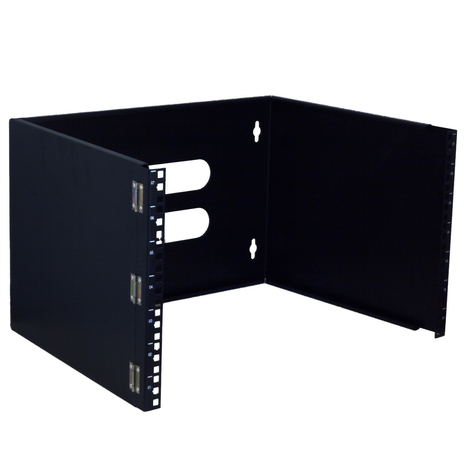 """7RU x 19"""" Hinged Wall Mount with Square Nuts and Screws"""