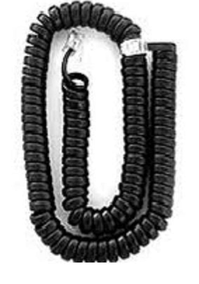 25' Black Coiled Modular Handset Cord as Low as $1.65