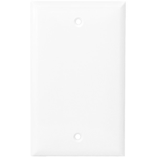 Blank Cover plate in White
