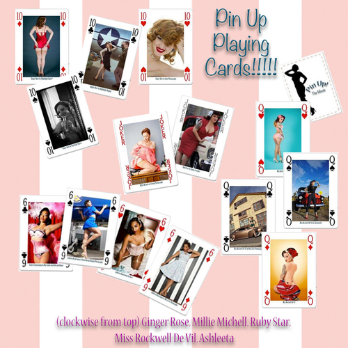 Pin Up Playing Cards Benefit