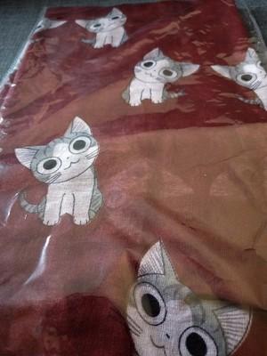 Dark red cat scarf
