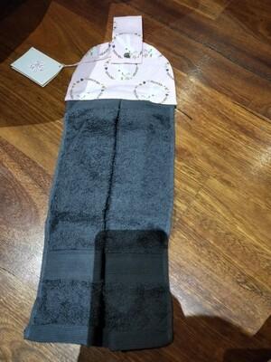 Dark grey hand towel