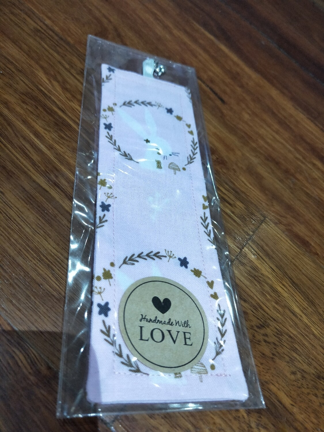 Bookmark with bunny charms