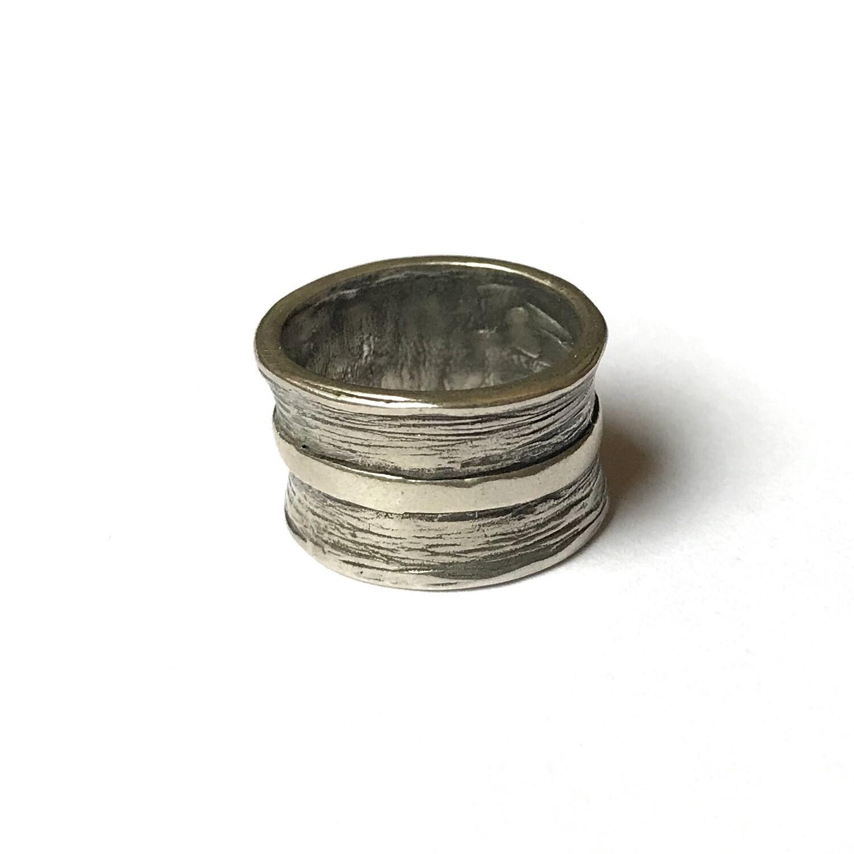 Ring in massief zilver - Jéh (Nederland)