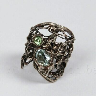 Ring in massief zilver - Josiane Douchamps (België)