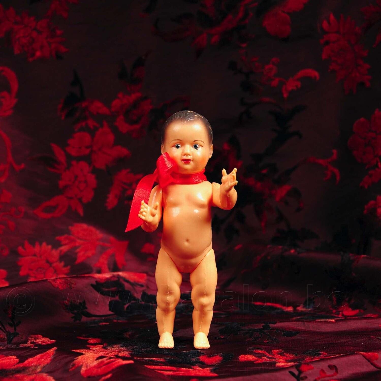 Popje 'Petit Colin' met bewegende armen en benen - Maat 15cm - licht beschadigd - Petitcollin