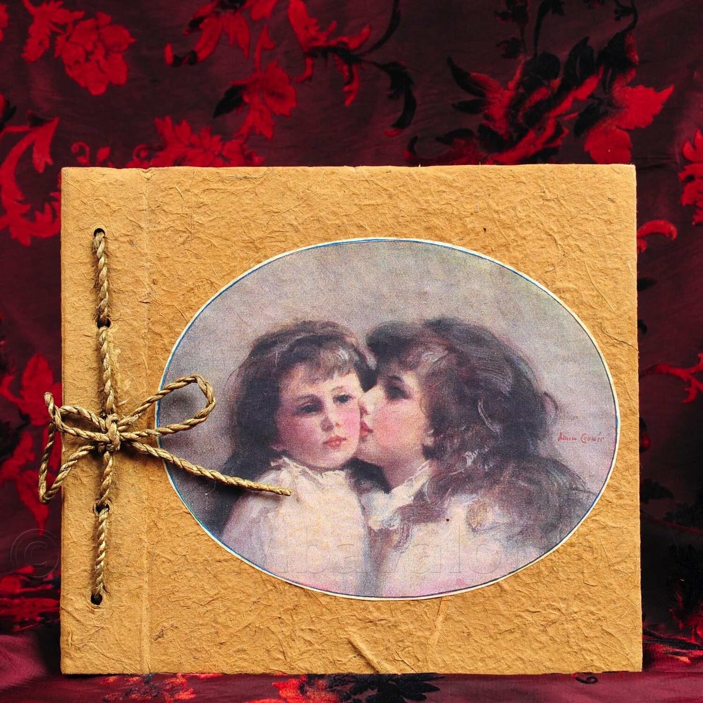 Fotoalbum - Vintage print m/kleine zusjes Meander
