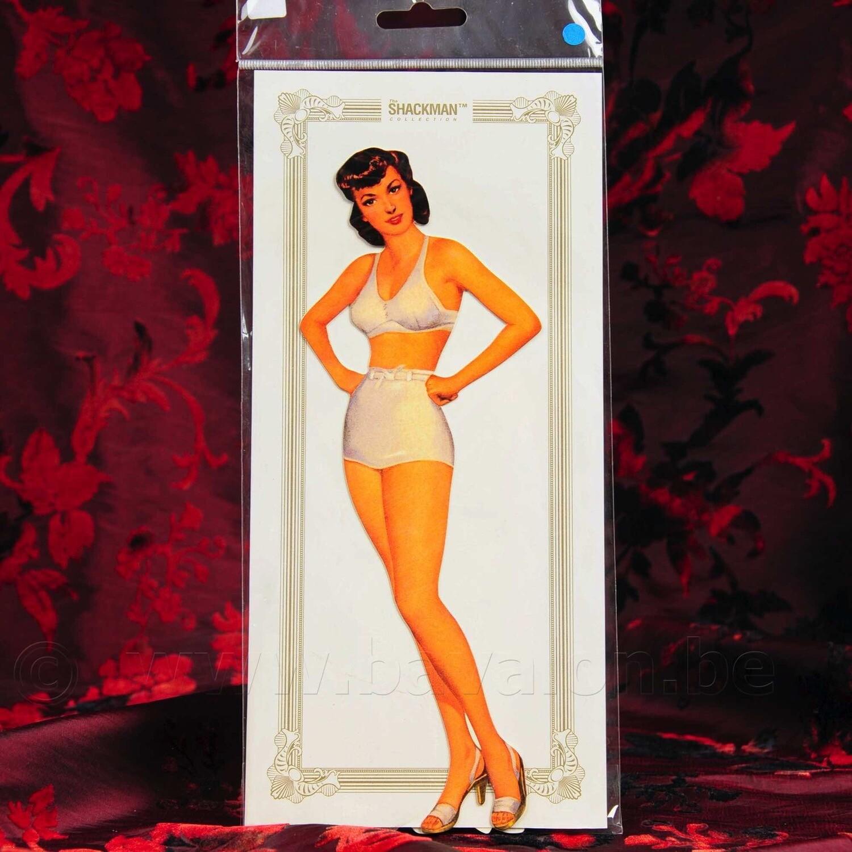 'Ava Gardner' vintage kartonnen poppenset met garderobe